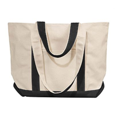 Windward Large Cotton Canvas Classic Boat Tote Thumbnail
