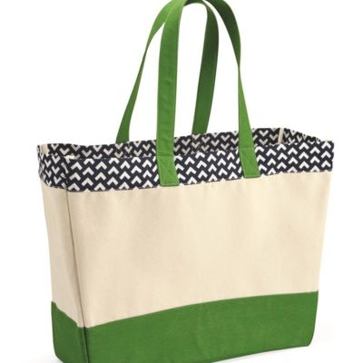 Patterned Top Beach Tote Thumbnail