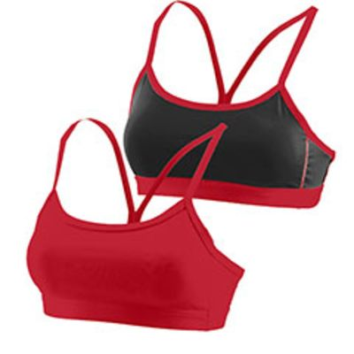 Ladies Wicking Poly/Span Reversible Bra Thumbnail
