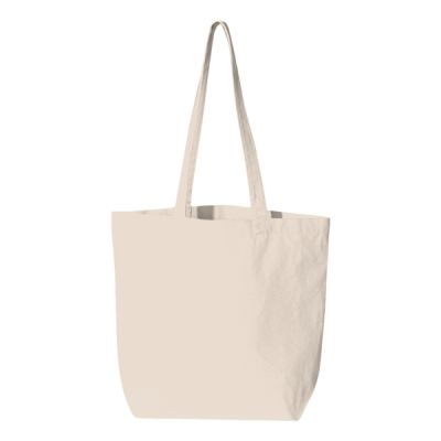Large Gusseted Cotton Canvas Tote Thumbnail