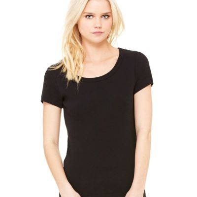Women's Baby Rib Short Sleeve Scoopneck Tee Thumbnail