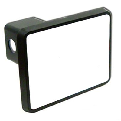 Rectangle Trailer Hitch Cover w/White Gloss Insert Thumbnail