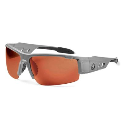 Skullerz® Dagr Safety Glasses Matte Gray Frame Polarized Thumbnail